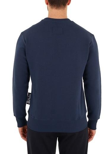 Versace Jeans  Baskılı Pamuklu Bisiklet Yaka Sweat Erkek Sweat B7Gzb7Tr 30216 239 Lacivert